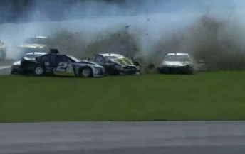 Ambrose test wreck at Daytona 344x217 Ambrose involved in big crash at Daytona