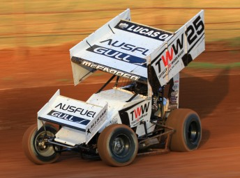 James McFadden has staked an early claim for a second Australian Sprintcar Title (PIC: Ben Graham/Zoomxtreme.com)