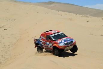 Olholm stage 12 344x229 Geoff Olholm cracks Dakar Top 10