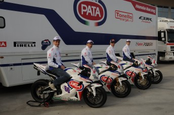 PATA 344x228 Castrol backed Pata Honda WSBK team unveiled at Verona