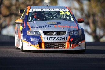 The Nandi Kiss Racing Commodore that will be driven by Chris Alajajian