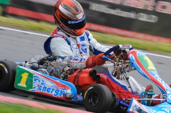 CIKSOK13 R1 AFImages 11235 600wide 344x228 Aussie Champ beats World Champ in Stars of Karting opener
