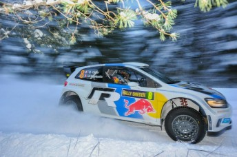 Ogier Sweden day 2 344x228 Volkswagen closing in on first WRC victory