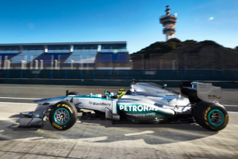 Screen Shot 2013 02 04 at 11.50.18 PM 344x229 Mercedes unveils and tests new W04 chassis
