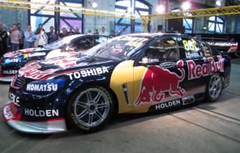 Craig Lowndes and Jamie Whincup's Red Bull Racing Commodores