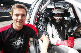 Nick McBride with TDR's V8 Supercars Championship driver Tony D'Alberto