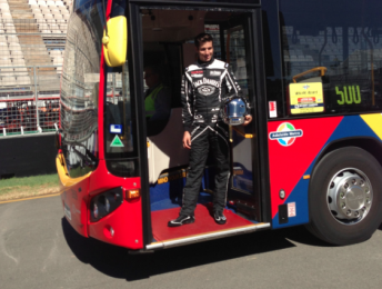 Rick Kelly is supporting the MAC and Clipsal 500's free public transport initiative