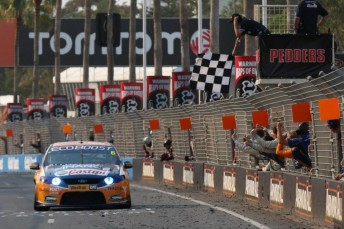 Will Davison and Mika Salo won the last of six international co-driver races on the Gold Coast in 2010