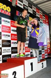 David Reynolds on the Clipsal 500 podium