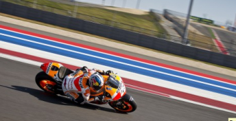 Dani Pedrosa testing at the Circuit Of The Americas track  recently