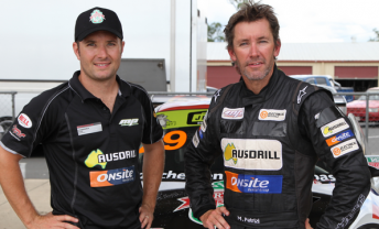 Michael Patrizi and Troy Bayliss and Queensland Raceway today