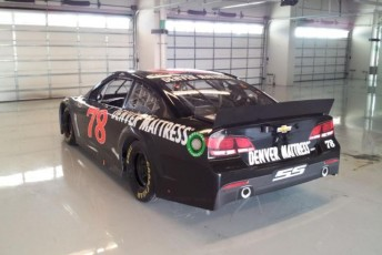 Busch's Sprint Cup Car arrived at the COTA on Monday