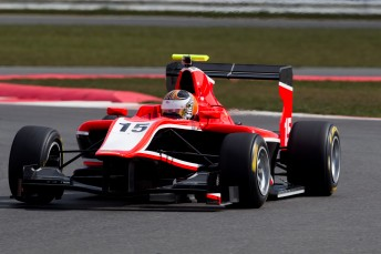 Nick Cassidy testing the Manor GP3 car at Silverstone recently