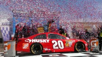 Matt Kenseth celebrates at Kansas