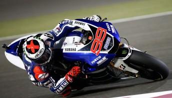 Jorge Lorenzo was fastest in Qatar