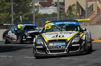 James Bergmuller competing in Adelaide