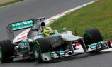 Rosberg leads three-pointed star to Spanish GP lock-out