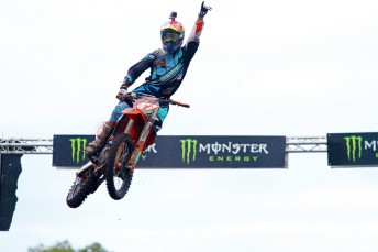 Todd Waters is showing some fine style in MX1 for KTM (PIC: MotoOnline.com.au)