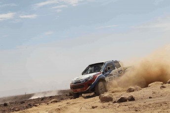 Bruce Garland in action in the Dakar earlier this year