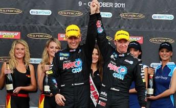 Simonsen finished third alongside Greg Murphy in the 2011 Bathurst 1000