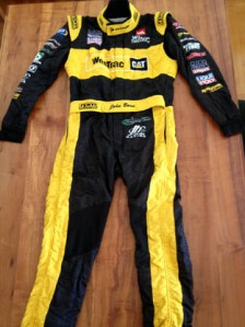 The race suit to be auctioned