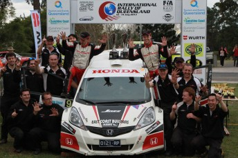 Evans makes it 10 in a row and 10 from 10 for Honda in Queensland