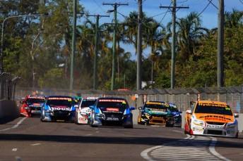 The Dunlop Series field in Townsville