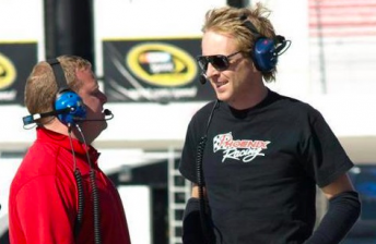 Dickeson (right) with #51 crew chief Nick Harrison
