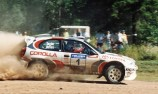 Toyota re-entry close with Yaris World Rally Car