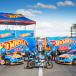 Hot Wheels backing for Clipsal 500 stunt team