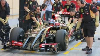 Grosjean behind the wheel of the E22