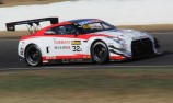 Nissan on top in red flag hit practice