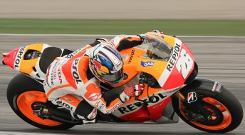 Dani Pedrosa was wide awake on the second day of testing