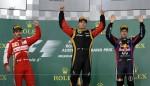 Kimi Raikkonen took his second AGP win in 2013 with Lotus