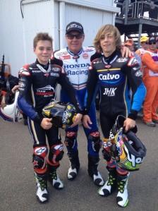Luca (left) with dad Wayne Gardner and older brother Remy