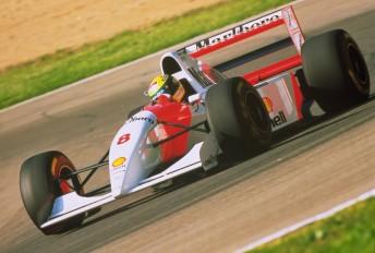 Senna at Imola in 1993