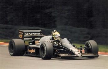 Senna at Spa in 1985