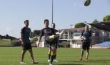 VIDEO: V8 stars take on NZ Warriors
