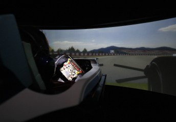 The Williams F1 simulator in action