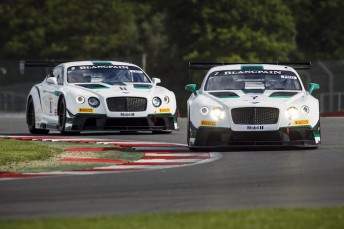Bentley GT3's at Silverstone