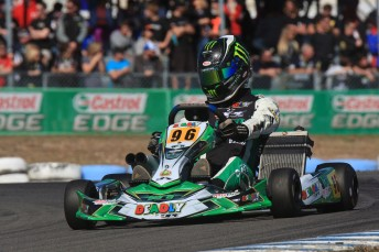 David Sera was dominant at the Newcastle Castrol EDGE Stars of Karting event