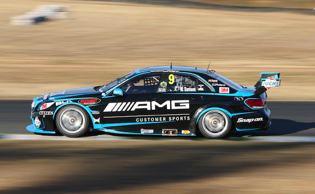 Will Davison on track at Queensland Raceway on Tuesday