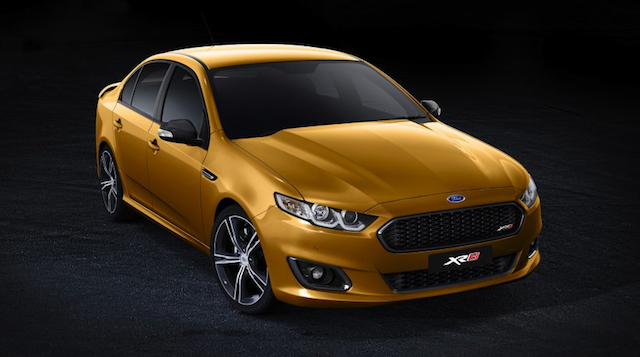 An official image of the final Ford Falcon