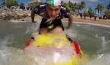 VIDEO: V8 stars take on beach challenge