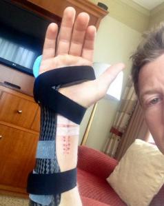 Ryan Briscoe underwent surgery after breaking his wrist at Toronto last year