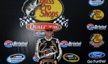 Harvick takes pole at Bristol