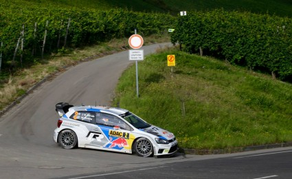 Latvala leads as Ogier crashes in Germany