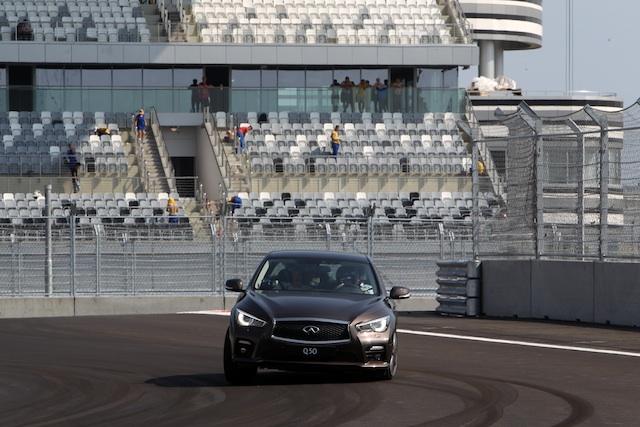 Vettel sochi Sebastian Vettel laps new Sochi circuit