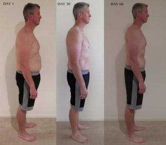 Johnson has lost 26kg since starting the diet program
