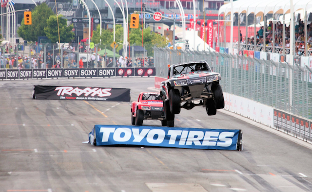 The Stadium Super Trucks at the Long Beach IndyCar Grand Prix earlier this year
